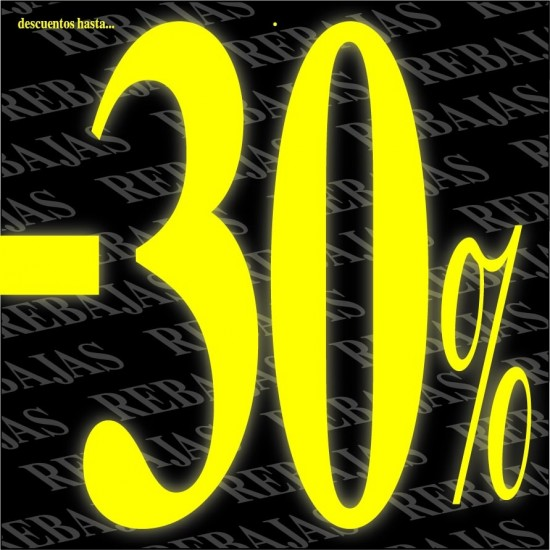 Carteles % descuento Amarillo