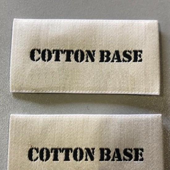 Etiquetas algodón bordadas...