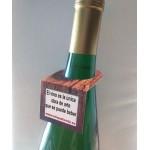 etiquetas cartulina para botellas aspecto de madera