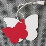 etiqueta mariposa cartón combinaciones
