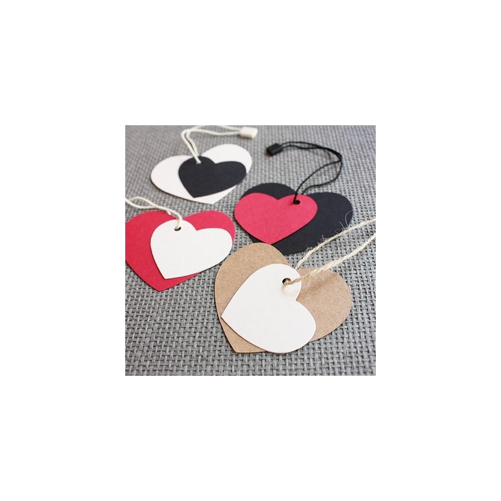 etiquetas cartón corazón combinables