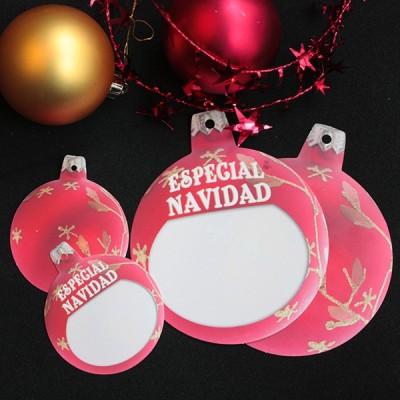 Etiquetas navidad cartón