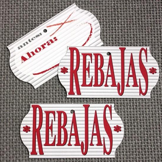 Etiquetas cartón REBAJAS EN OFERTA 2X1