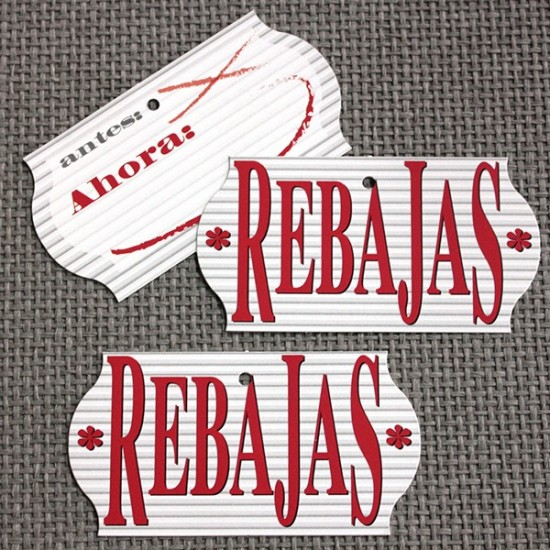 ETIQUETAS REBAJAS Rayas