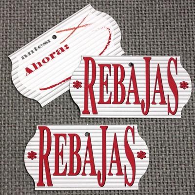 ETIQUETA REBAJAS RAYAS