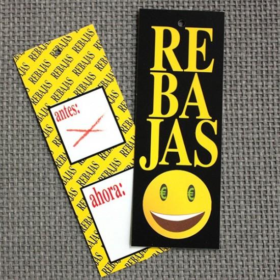 Etiquetas cartón rebajas paquete 200 u.