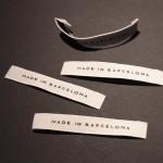 Etiquetas bordadas MADE IN BARCELONA