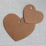 etiqueta colgante cartulina kraft forma corazon