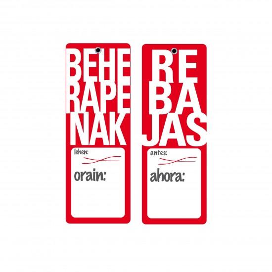 Rebajas Antes/ahora-Beherapenak Lehen/Orain