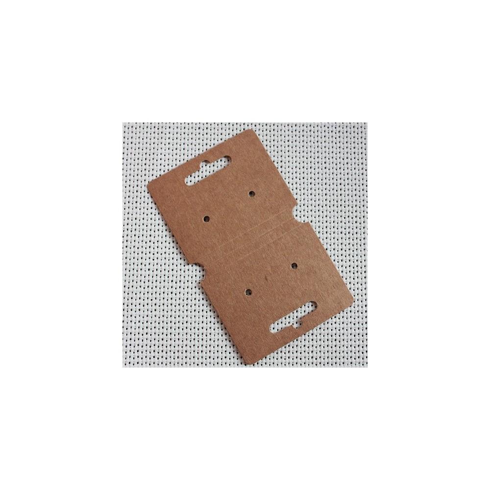 c6ffc65f92ab Colgador cartón kraft para bisutería y complementos moda.