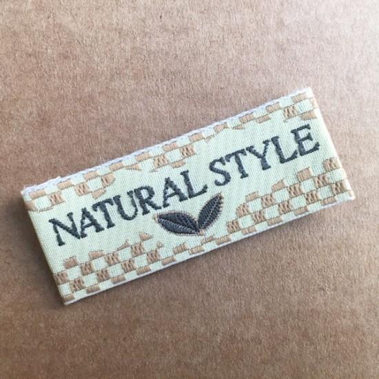 200 Etiquetas bordadas NATURAL STYLE 2x1
