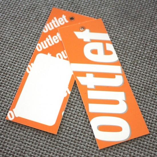 Etiqueta colgante cartulina Outlet