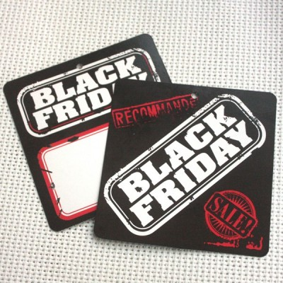 Etiquetas cartón BLACK FRIDAY CUADRADA