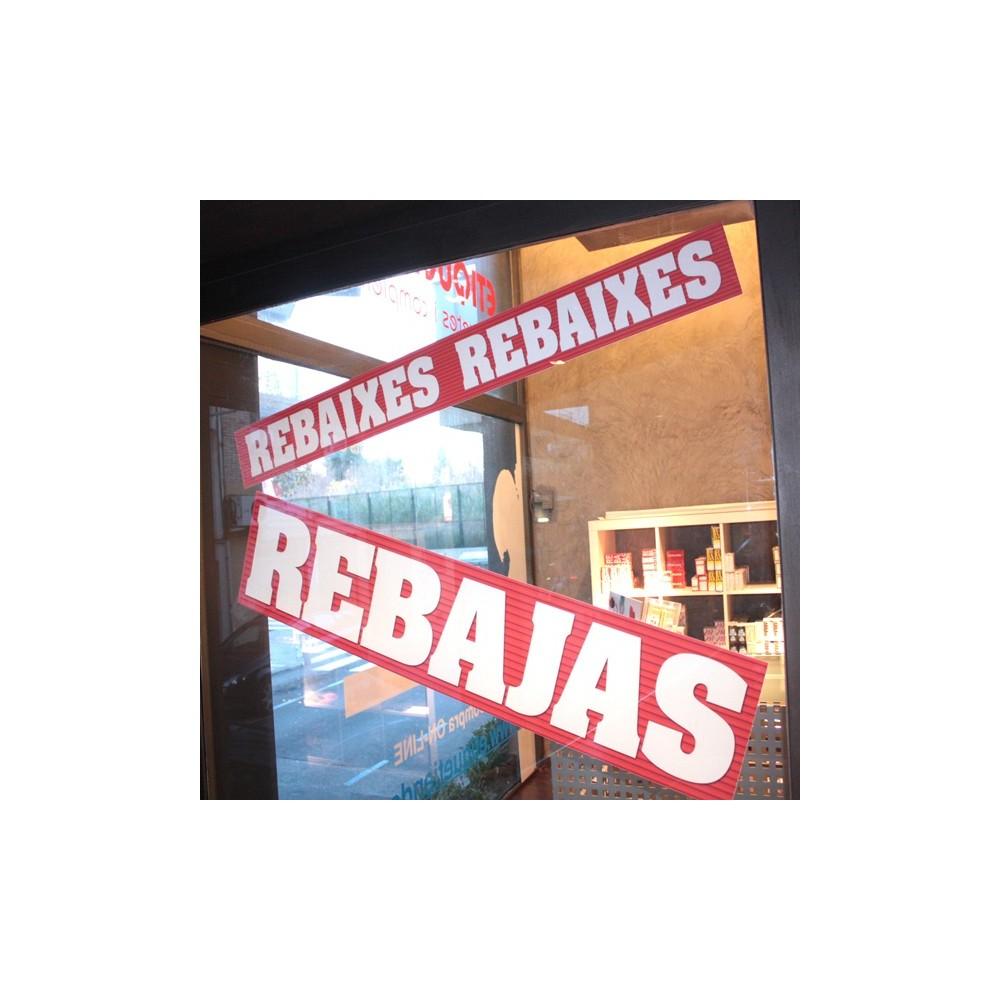 CARTELES REBAJAS ESCAPARATES