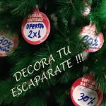 etiquetas cartón navidad decoración escaparate
