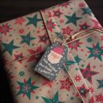 etiquetas cartón kraft navidad pequeña