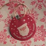 etiqueta navideñas para regalos cartón kraft