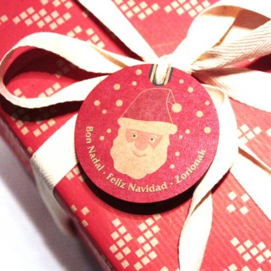 etiquetas navidad cartón kraft para regalos