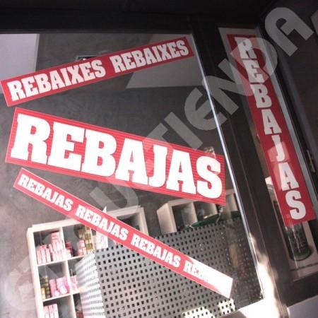 "CARTELES ""REBAIXES"" ESCAPARATES"