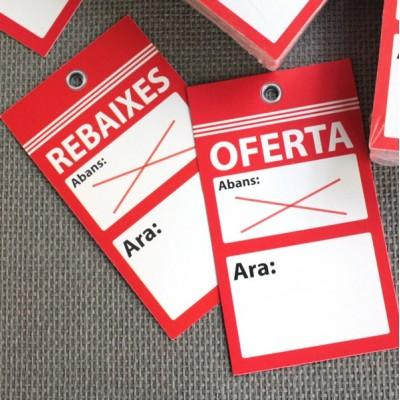 Etiqueta perchas Rebajas/Oferta
