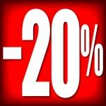 CARTELES 20% DESCUENTO