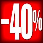 CARTELES 40% DESCUENTO