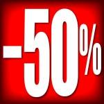 CARTELES 50% DESCUENTO