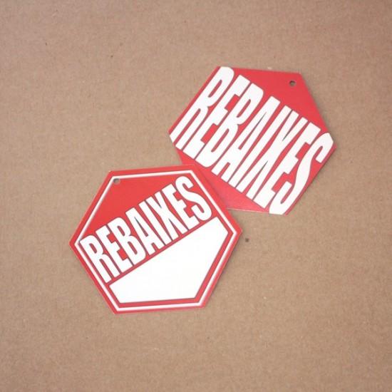 etiquetes cartró rebaixes