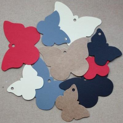 Etiquetas colgantes cartón Mariposa