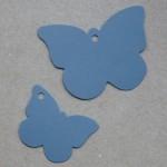 etiqueta mariposa cartón azul