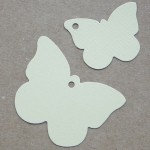 etiqueta mariposa cartón beig