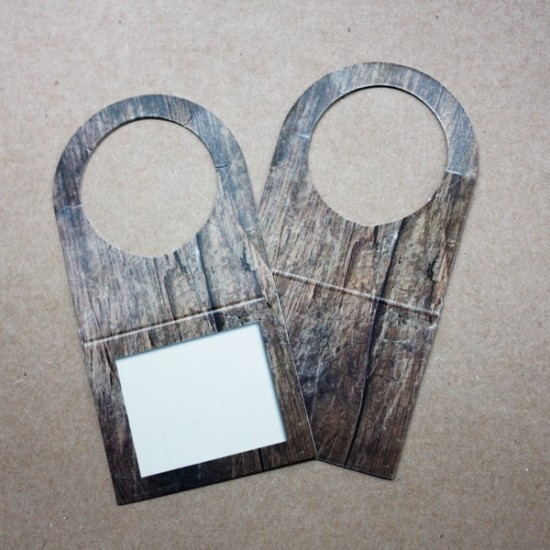 Cardstock botellera wood