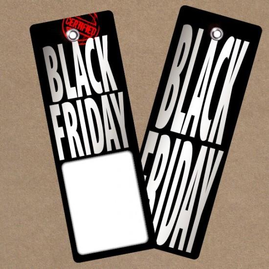 Etiqueta cartón BLACK FRIDAY RECTANGULAR