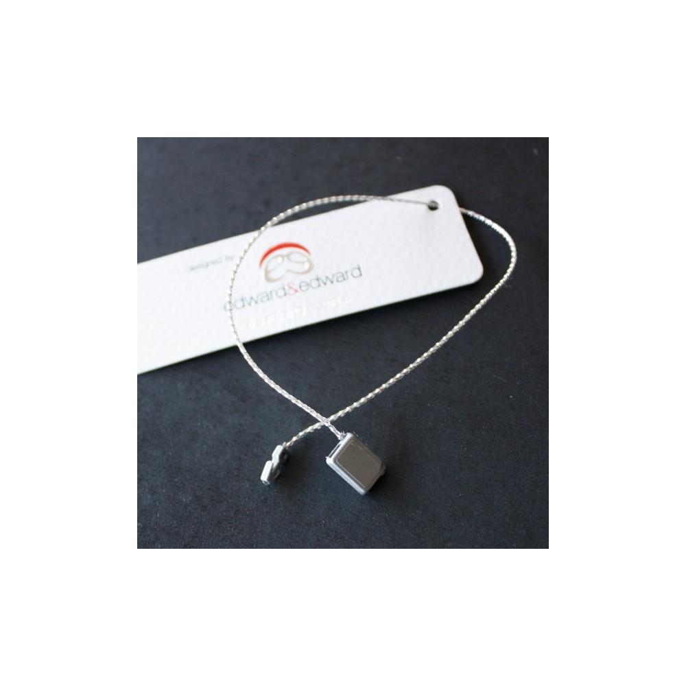 precinto cordón plata metálica