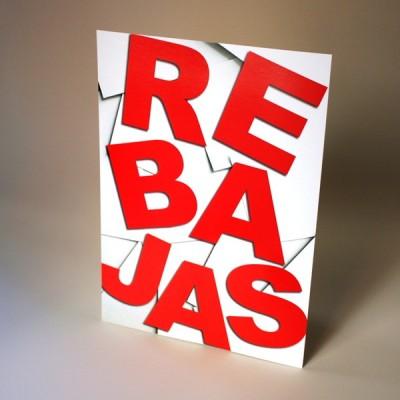 display rebajas