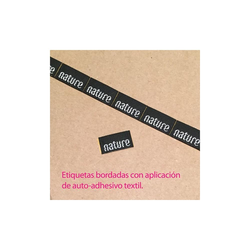 etiqueta bordadas auto-adhesivas ref. nature