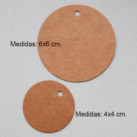 Etiqueta kraft personalizada redonda