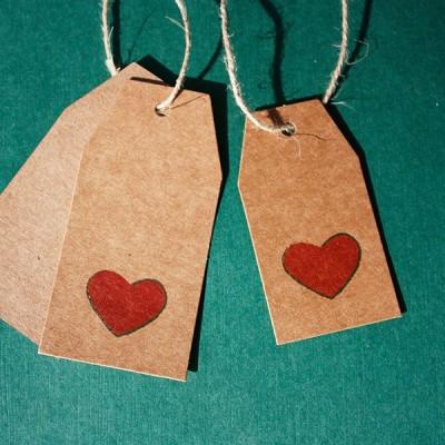 etiqueta colgante kraft para regalos