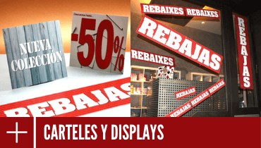 Carteles y displays